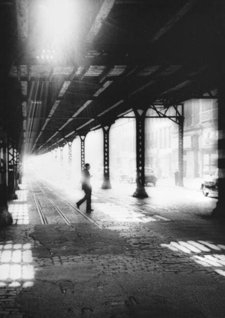 William Klein, 'Man Under El, New York', 1954-1955