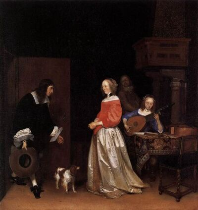 Gerard ter Borch the Younger, 'The Suitor's Visit', ca. 1658