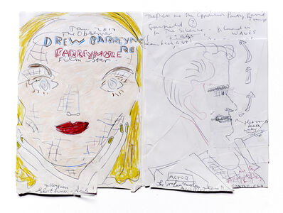 Rose Wylie, 'Drew & Andrew', 2017