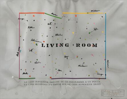 Shusaku Arakawa, 'Living Room', 1969