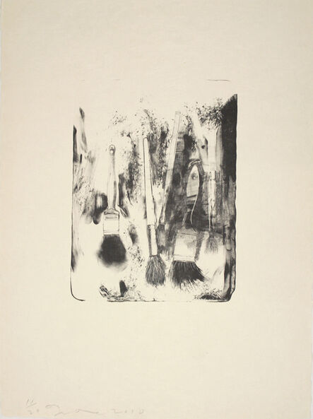 Jim Dine, 'Brushes Drawn on Stone #4', 2010