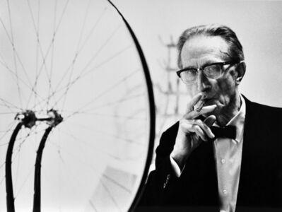 Julian Wasser, 'Duchamp smoking Cigar next to Bicycle Wheel , Duchamp Retrospective, Pasadena Art Museum, 1963 ', 2016