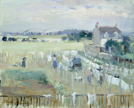 Berthe Morisot, 'Hanging the Laundry out to Dry', 1875