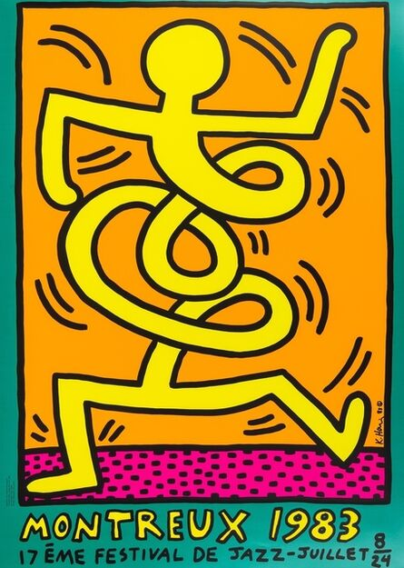Keith Haring, 'Montreux 1983 Green (Döring & Osten 9)', 1983