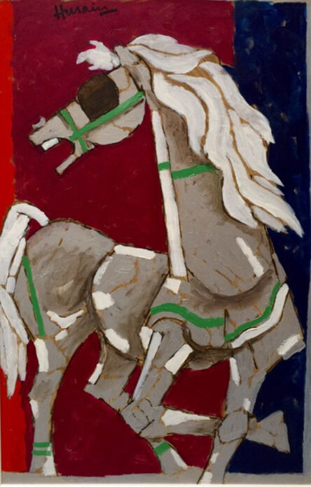 Maqbool Fida Husain, 'Wild Stallion', 2017