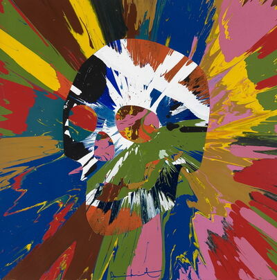 Damien Hirst, 'Beautiful Paper Skull Spin Painting AI', 2013