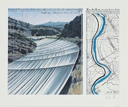 Christo, 'Over The Arkansas River XI, Project', 2000-2010