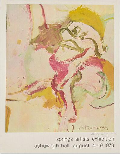 Willem de Kooning, 'Ashawagh Hall Exhibition Print', 1979