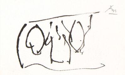 Robert Motherwell, 'OPEN FORMS (from the Joyce Sketchbook)', 1985