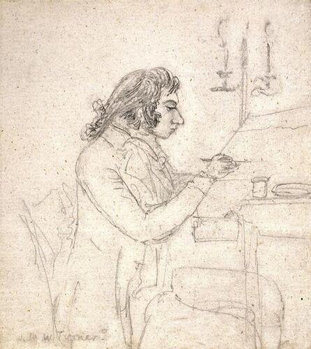 Dr. Thomas Monro, 'J. M. W. Turner at A Drawing Table; Verso: Mrs. Monro Asleep', about 1795