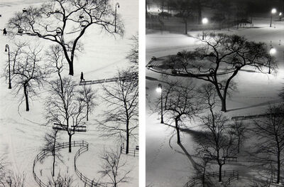André Kertész, 'Washington Square, Day and at Night (Two Oversized Prints)', 1954/1970s