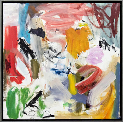 Scott Pattinson, 'Ouvert No 52 - vibrant, colourful, gestural abstraction, oil on square canvas', 2018