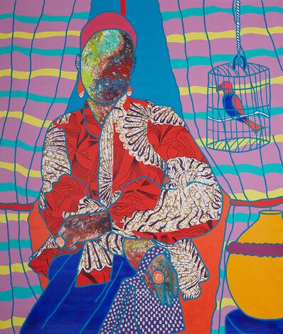 Ajarb Bernard Ategwa, 'Posing with my Parrot', 2021