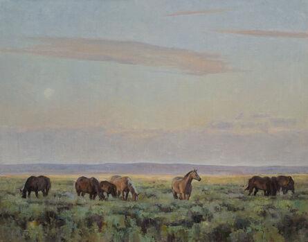 John Taft, 'Sage Horses', 2019