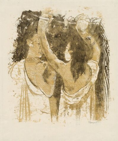 Paul Gauguin, 'Two Tahitians Gathering Fruit [recto]', 1899/1900