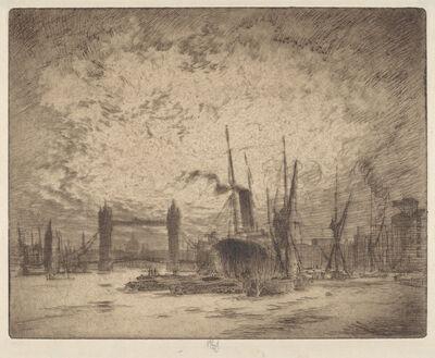 Joseph Pennell, 'Tower Bridge, Evening', 1905