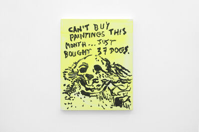 Alvaro Seixas, 'Untitled Painting (Can't Buy Paintings This Month)', 2017