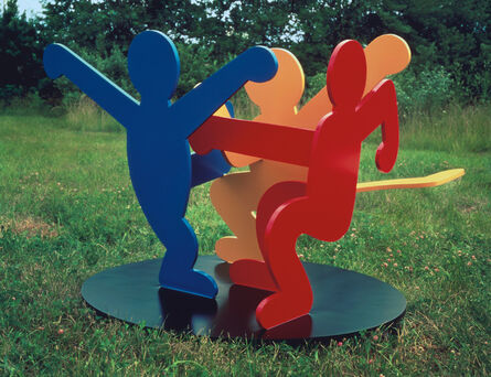 Keith Haring, 'Untitled (Three Dancing Figures), Version A', 1989