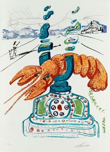 Salvador Dalí, 'Cybernetic Lobster Telephone (Imagination & Objects of the Future Portfolio)', 1975