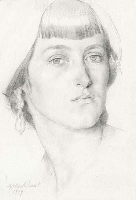 Gerald Leslie Brockhurst, 'Lady with Earrings', 1919
