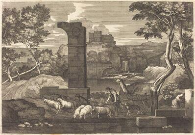 Sébastien Bourdon, 'Landscape with Peasant and his Herd'