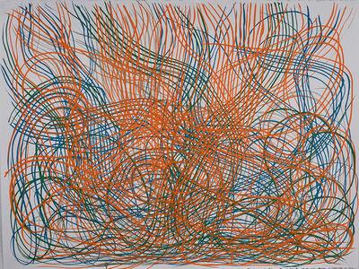 Brian Frink, 'Deluge Orange and Blue', 2019