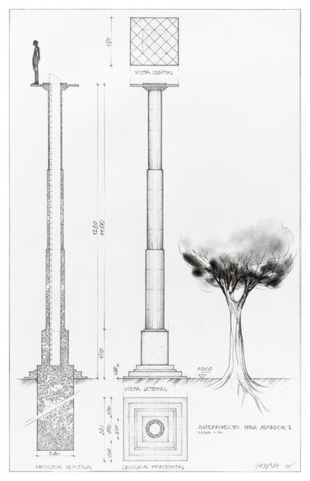 Horacio Zabala, 'Anteproyecto de mirador (Draft Project of Lookout)', 2017