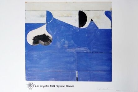 Richard Diebenkorn, 'Los Angeles 1984 Olympic Games (Pencil Signed) , 1982 Offset Lithograph on Parsons Diploma Parchment. Hand signed. Mint condition. Unframed.', 1982