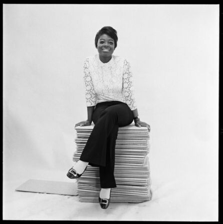 James Barnor, 'Portrait of Drum cover girl Rosemarie Thompson at the studio in Gray's Inn road, London, 1966-1967', 2019