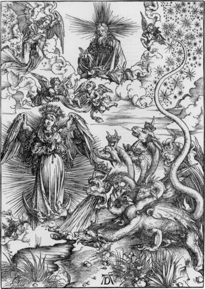 Albrecht Dürer, 'Das Sonnenweib und der siebenköpfige drache (The Apocalyptic Woman)', 1511