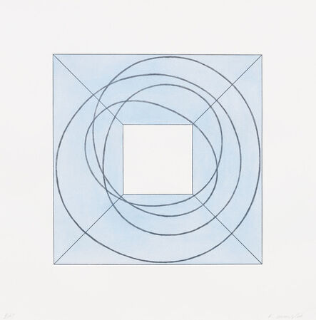 Robert Mangold (b. 1937), 'Framed Square with Open Center B', 2013