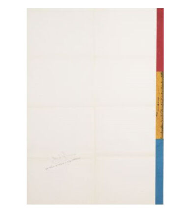 "Jasper Johns, '""Jasper Johns"", Exhibition Invitation/Mailer/Poster, Offset Lithograph, Leo Castelli Gallery NYC', 1968"