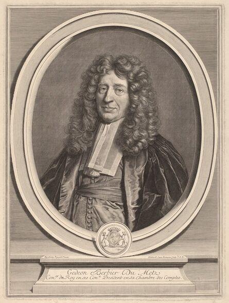 Gerard Edelinck after Hyacinthe Rigaud, 'Gedeon Berbier-Du Metz'