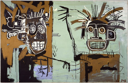 Jean-Michel Basquiat, 'Untitled (Two Heads on Gold)', 1982