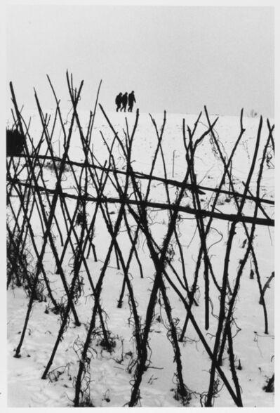 Leonard Freed, 'Three figures on horizon Holland ', 1964