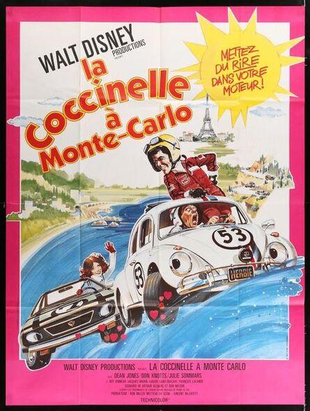 Anon, 'HERBIE GOES TO MONTE CARLO French 1p '77 Disney, art of Volkswagen Beetle car racing.', 1977