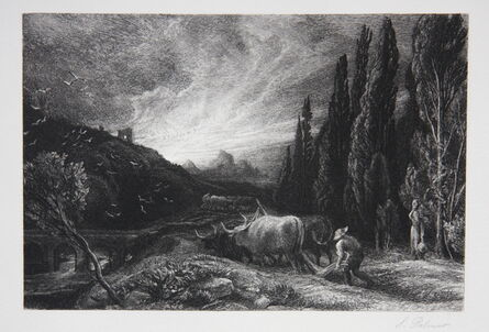 Samuel Palmer, 'Early Ploughman or The Morning Spread Upon the Mountains', 1861