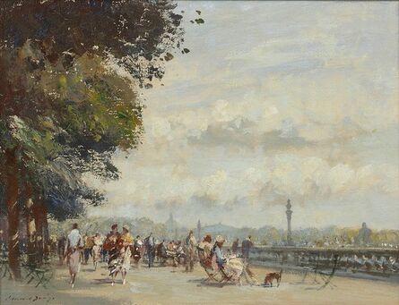 Edward Seago, 'Along the Seine, The Wide Terrace, Tuileries Garden'