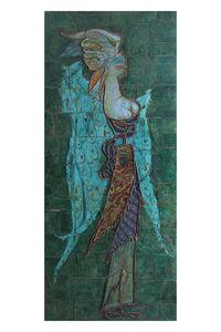 Pietro Melandri, 'Winged female figure with mask', ca. 1948