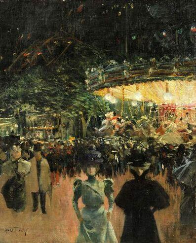 Louis Abel-Truchet, 'La fête foraine, Place Pigalle', ca. 1890