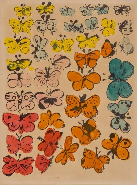 Andy Warhol, 'HAPPY BUTTERFLY DAY', circa 1955