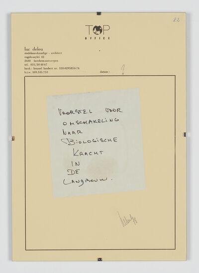 Luc Deleu & T.O.P. office, 'Voorstel voor Omschakeling naar Biologische Kracht in de landbouw', 1978