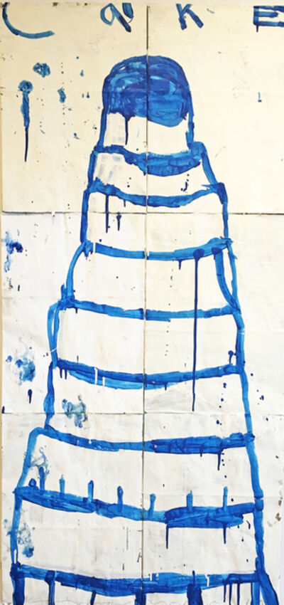 Gary Komarin, 'Cake (Blue on Crème)', 2014
