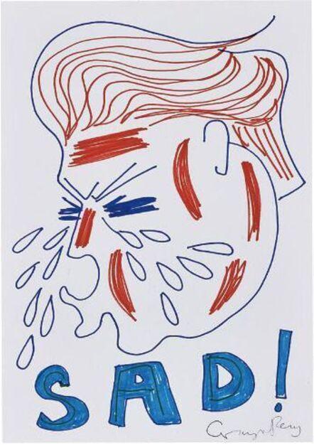 Grayson Perry, 'Untitled ( Sad Trump Drawing)', 2017