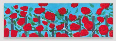 Alex Katz, 'Roses on Blue', 2002