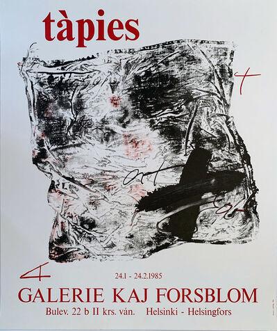 Antoni Tàpies, 'Tapies Galerie Kaj Forsblom Gallery Poster, Gallery Poster ', 1985