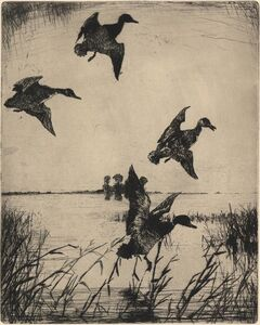 Frank Weston Benson, 'Sunset at Long Point.', 1933