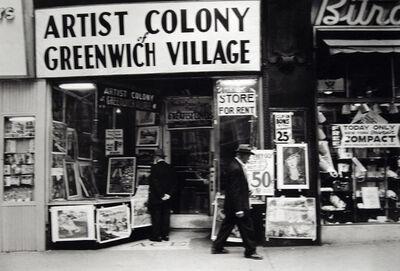 Frank Paulin, 'Untitled (Artist Colony of Greenwich Village, 14th Street)', 1955