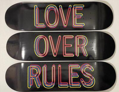 Hank Willis Thomas, 'Hank Willis Thomas Love Over Rules Silk Screen Printed Skateboards Set of Three ', 2020