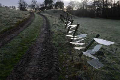 Andy Goldsworthy, 'Ice placed in fence netting and wire', 2013